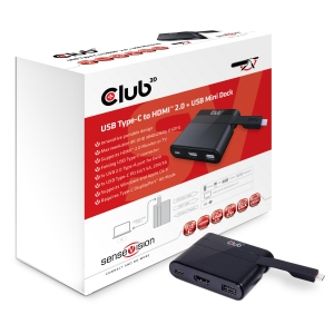 USB Tipo-C to HDMI™ 2.0 + USB 2.0 + USB Tipo-C Cargar Mini Dock