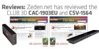 Reviews of the CLUB 3D CAC-1903EU and CSV-1564.